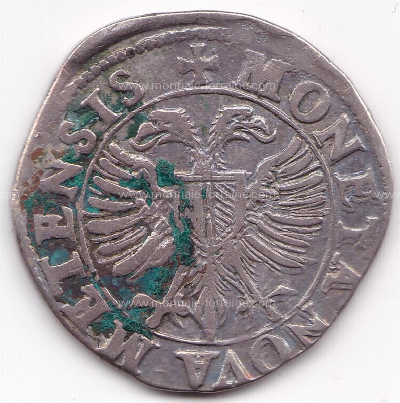 1592 teston de la Cite de Metz
