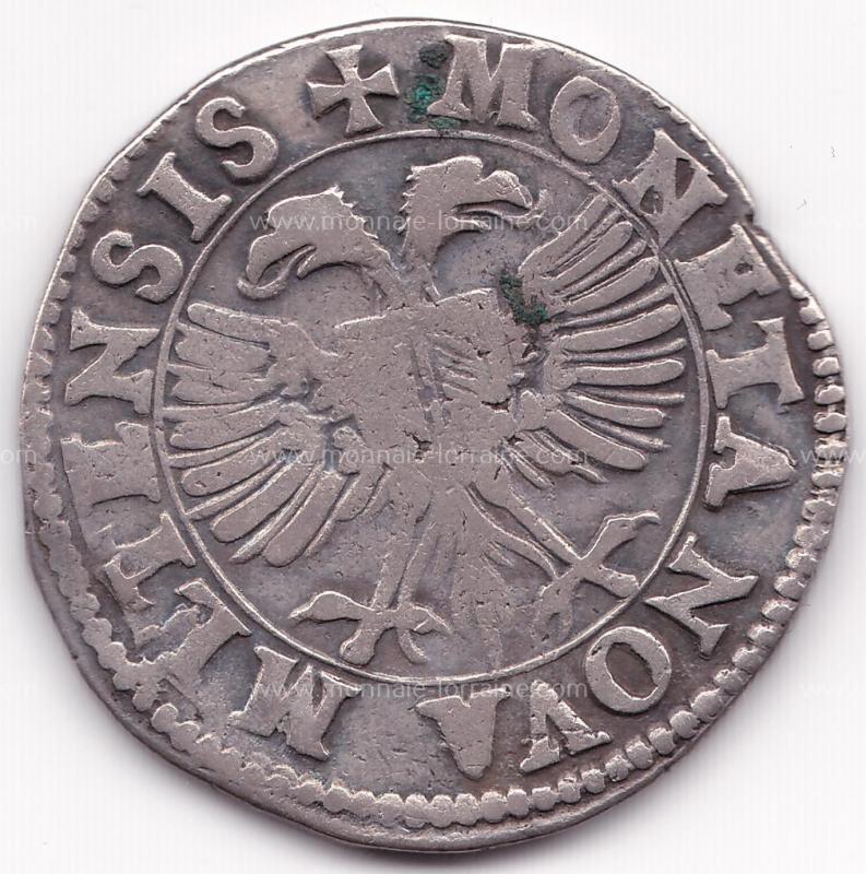 1599 teston cité de Metz