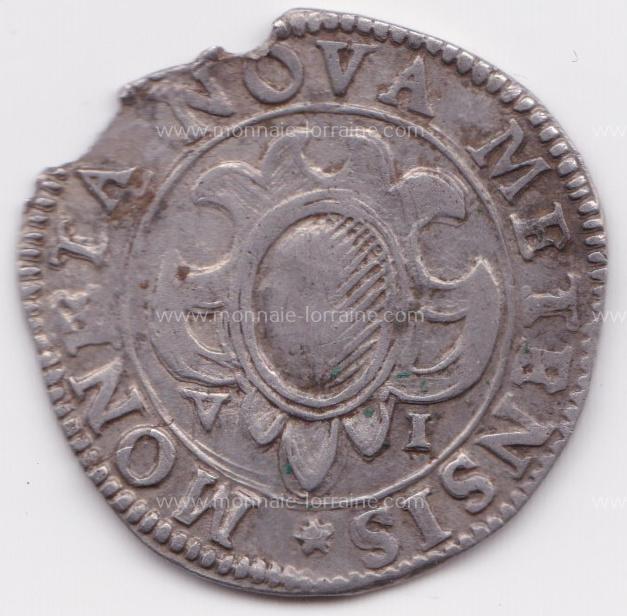 1611 franc 6 gros cite de metz 1er type r