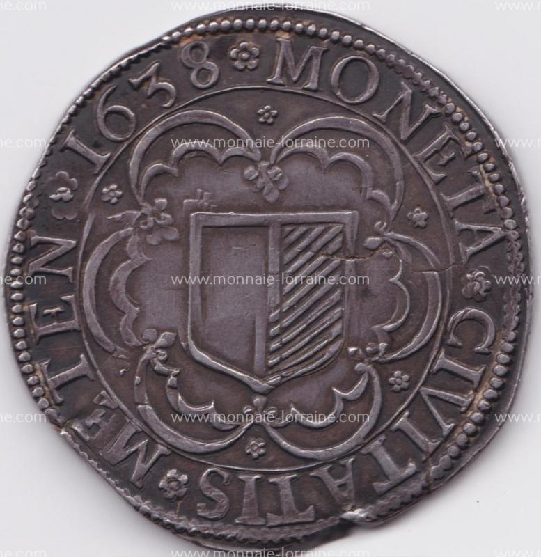1638 c r thaler de metz ecu carée