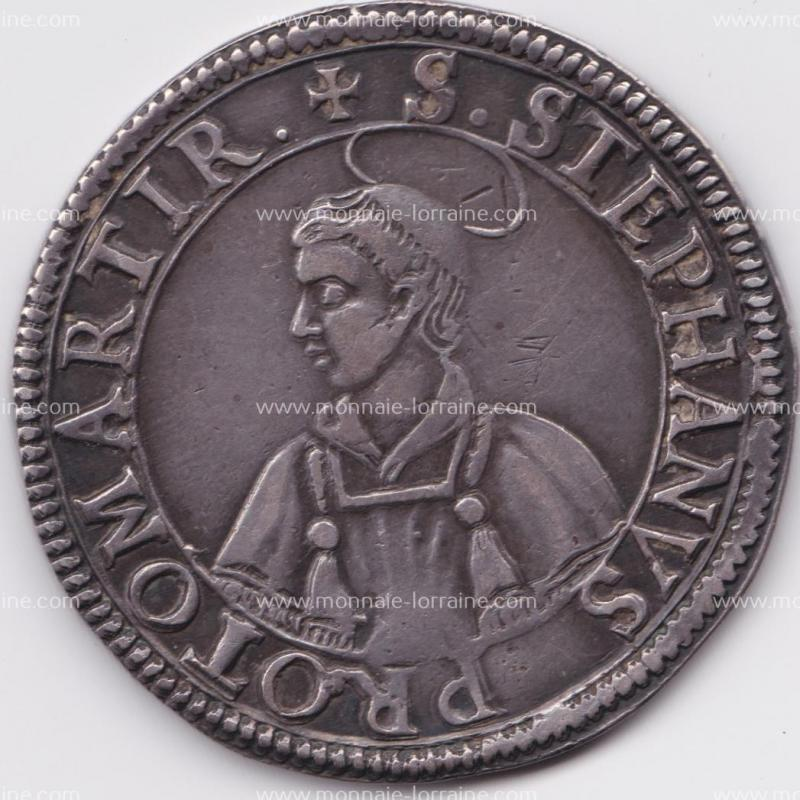 1638 thaler de metz saint etienne en buste 1
