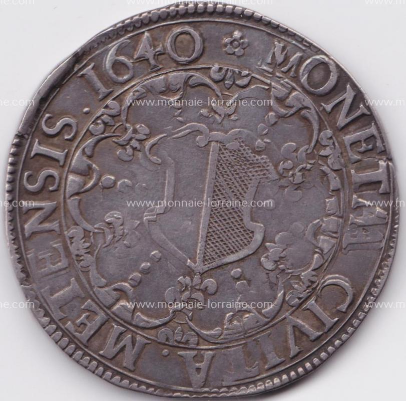 1640 r thaler de metz saint etienne en buste