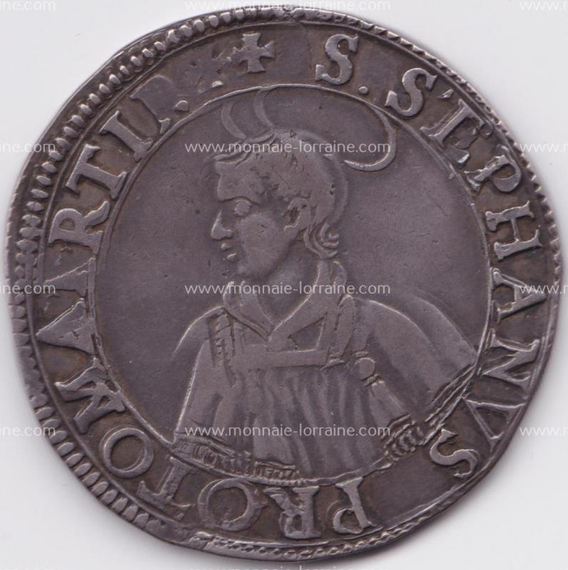 1640 thaler de metz saint etienne en buste