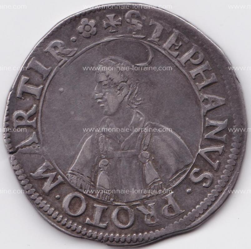 1646 v buste fin thaler de metz saint etienne en buste