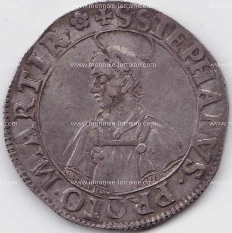 1647 thaler de metz saint etienne en buste 1