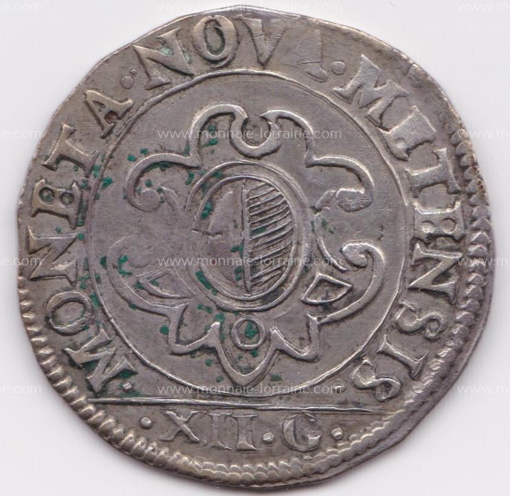 1661 franc 12 gros cite de metz r
