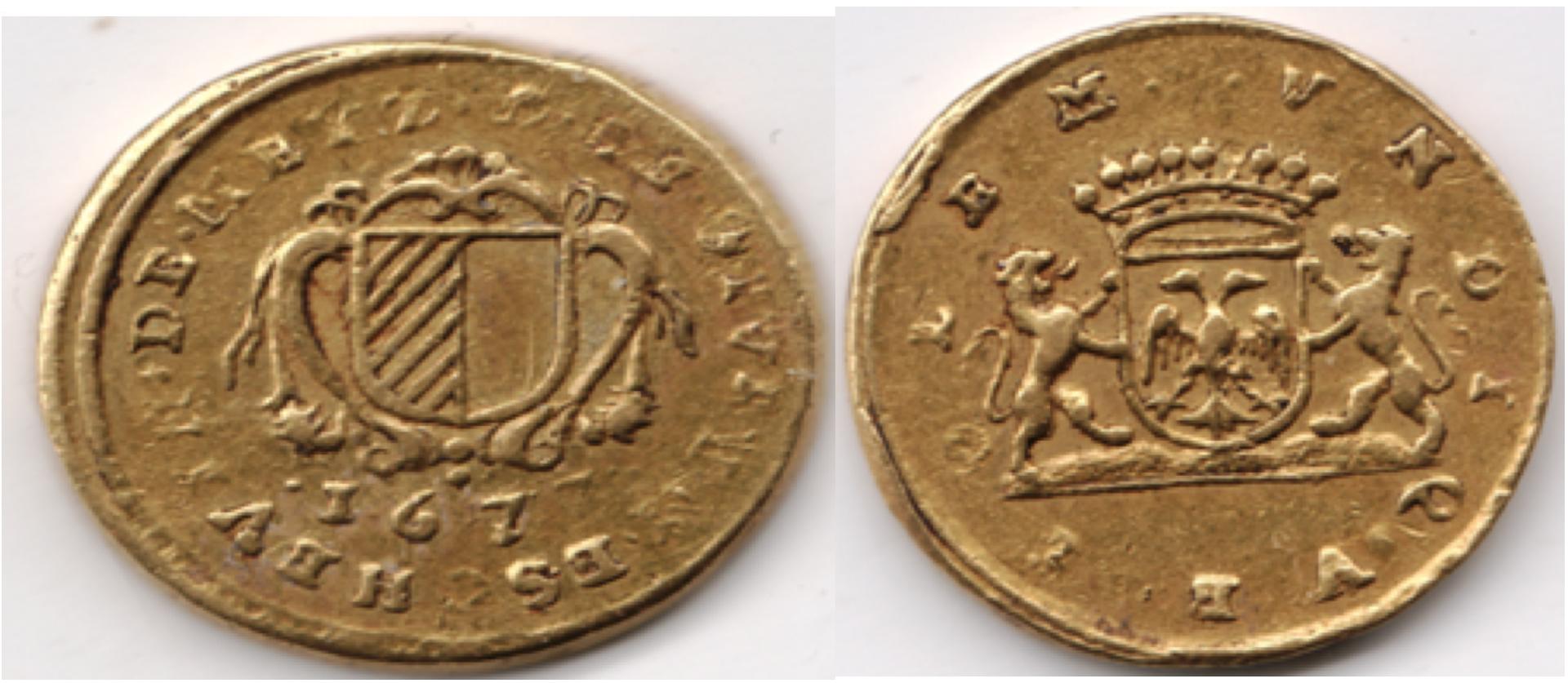 1677 bernard de pellard jeton or p diam collection f r