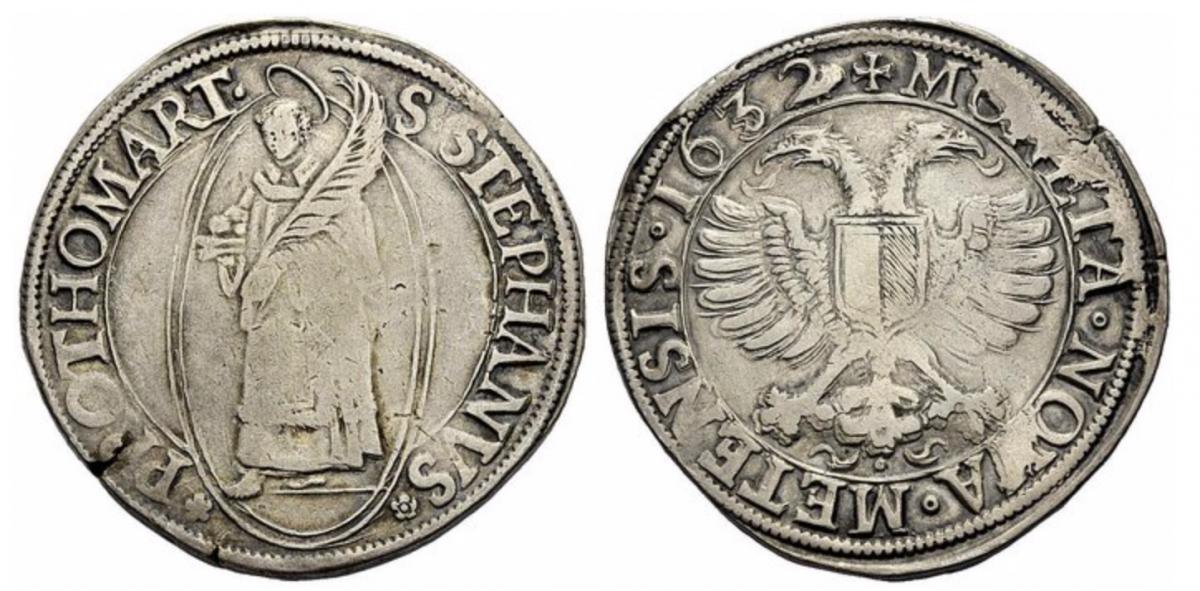 Thaler a l'aigle bicéphale daté 1632