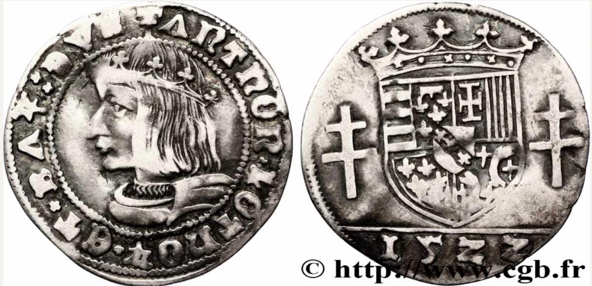 Quart de teston d'antoine 1522