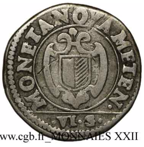 1621 franc 6 gros