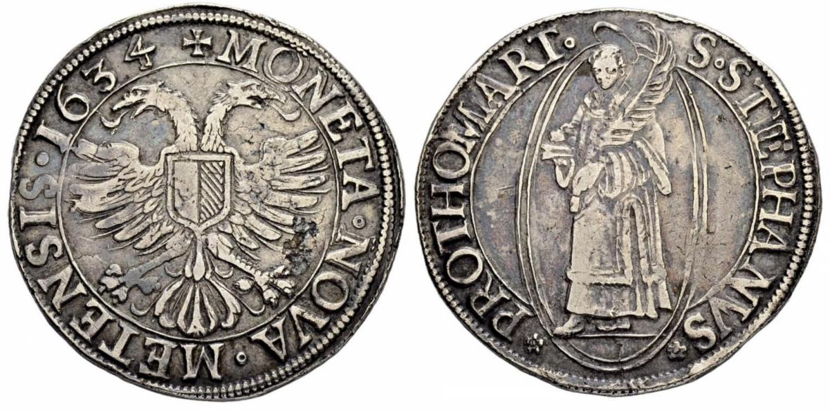 Thaler a l'aigle bicéphale daté 1634