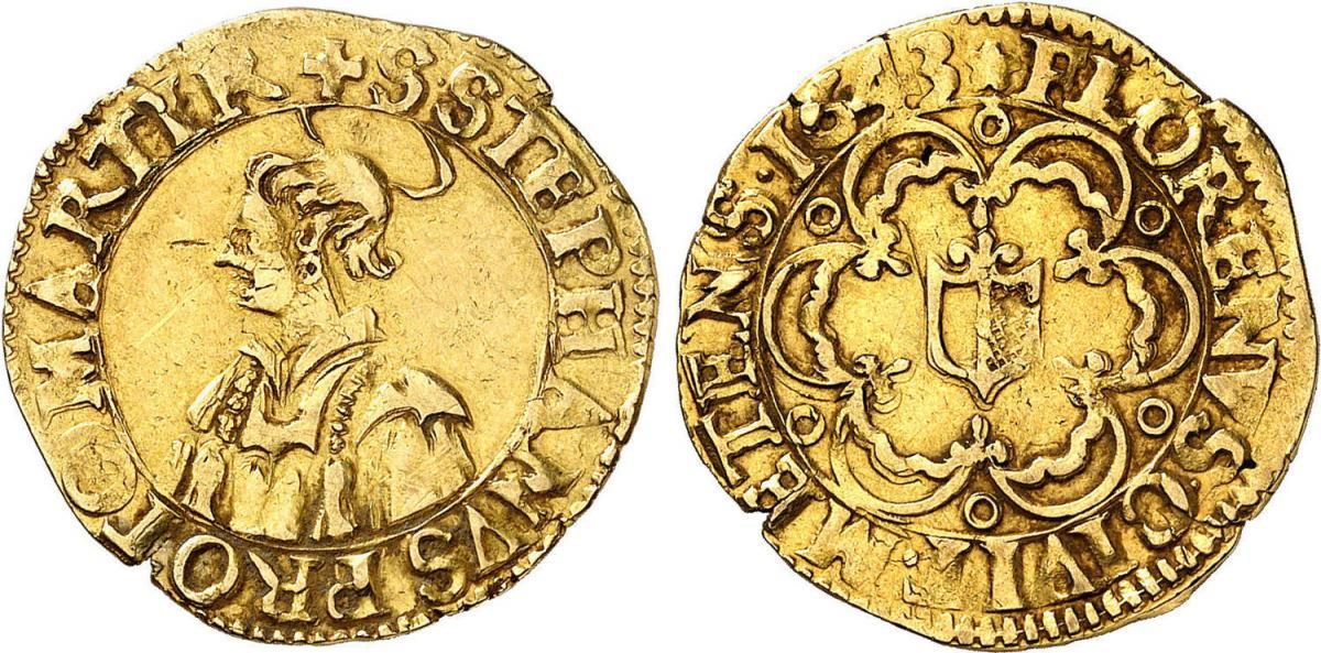 Florin metz 1643 au buste
