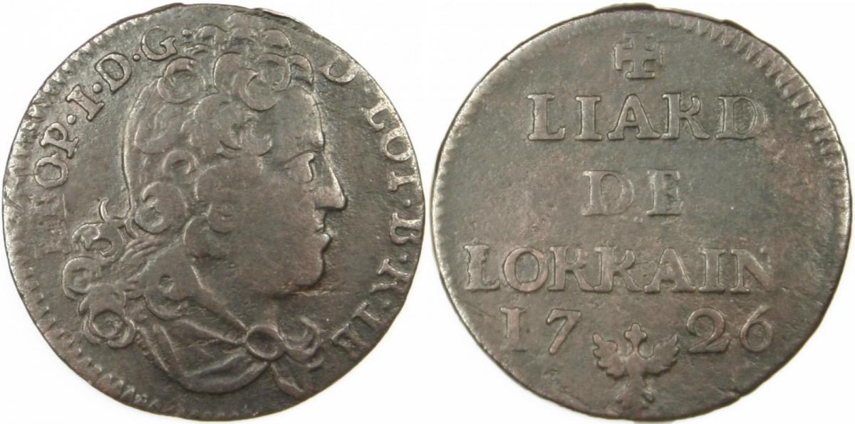 Liard de lorraine 1726