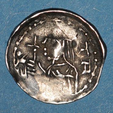 Monnaies lorraine duche de lorraine berthe de souabe 1176 1195 denier nancy type inedit unique 126503a