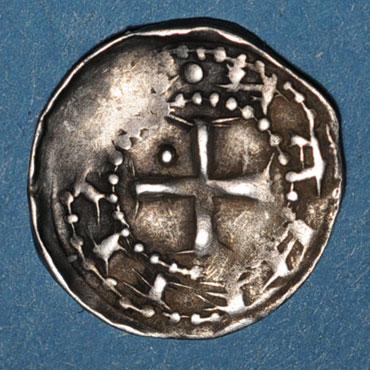 Monnaies lorraine duche de lorraine berthe de souabe 1176 1195 denier nancy type inedit unique 126503r