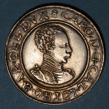 Monnaies lorraine duche de lorraine charles iii 1545 1608 tallar au buste enfantin nancy 135294a