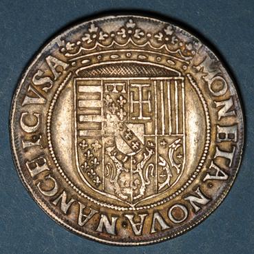 Monnaies lorraine duche de lorraine charles iii 1545 1608 tallar au buste enfantin nancy 135294r