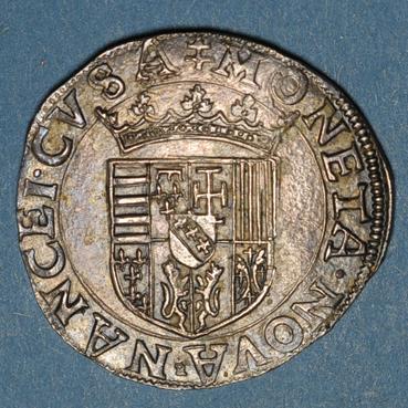 Monnaies lorraine duche de lorraine charles iii 1545 1608 teston au buste viril nancy 135618r