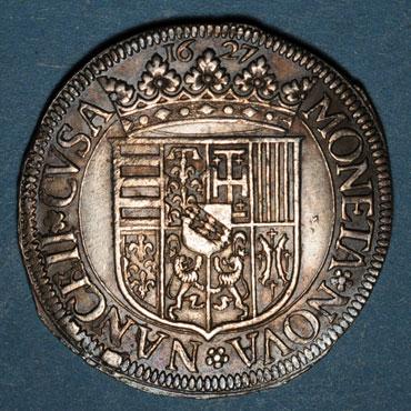 Monnaies lorraine duche de lorraine charles iv 1er regne 1625 1634 teston au col plat 1627 nancy 133613r
