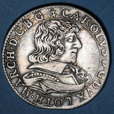 Monnaies lorraine duche de lorraine charles iv maitre de quelques places 1638 1639 teston 1638 remiremont 82772a