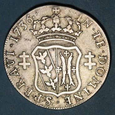 Monnaies lorraine duche de lorraine francois iii 1729 1737 teston 1736 r r 135921r