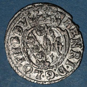 Monnaies lorraine duche de lorraine henri ii 1608 1624 demi gros nancy 125129a