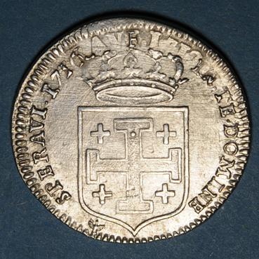 Monnaies lorraine duche de lorraine leopold 1697 1729 teston 1716 nancy 135838r