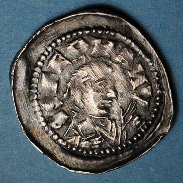Monnaies lorraine lorraine eveche de metz adalberon iv 1104 1115 denier rimling 134227r