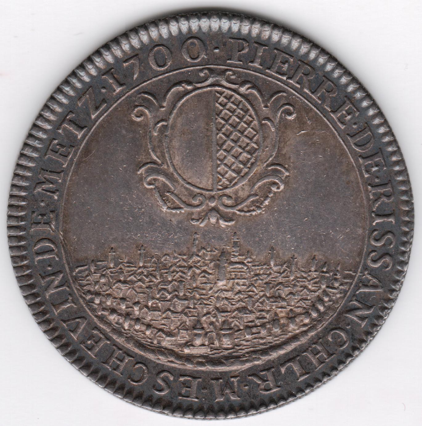 Pierre de rissan a jeton de 1700 p 5 716 argent
