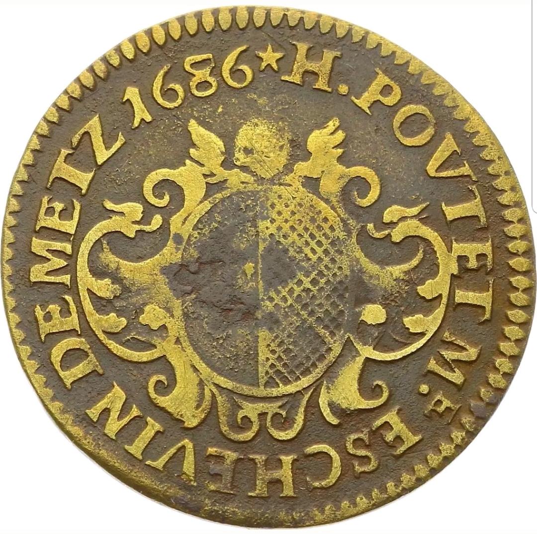 Poutet a jeton henri poutet cuivre 1686