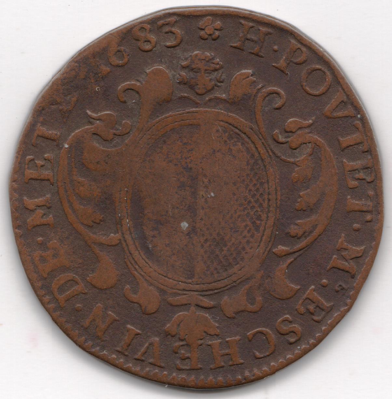 Poutet a jeton henri poutet jeton cuivre 1683
