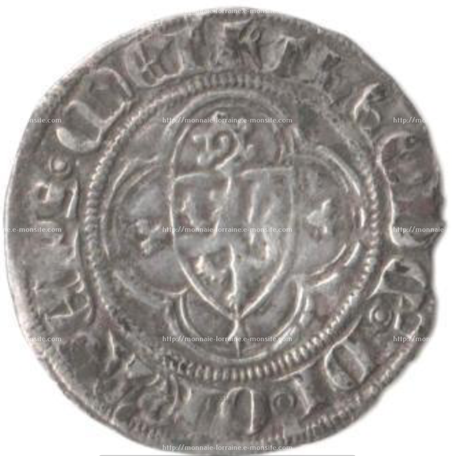 Tiers de gros frappe sous thierry v de boppart 1365 1384 a marsal